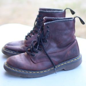 DR. Martens 1460 Cherry Red Smooth Boots Size 9 US